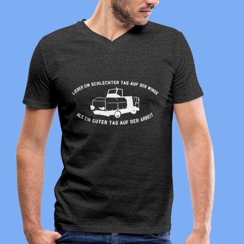 Lieber ein Tag auf der Winde Segelflieger Geschenk - Men's Organic V-Neck T-Shirt by Stanley & Stella