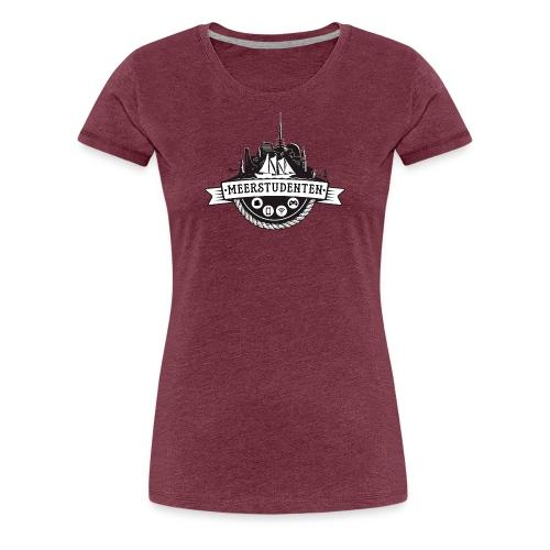 Meerstudenten - Frauen Premium T-Shirt bordeaux meliert - Frauen Premium T-Shirt