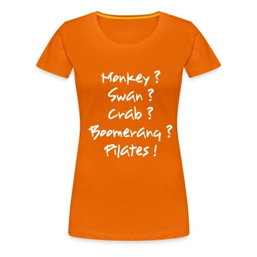 pilates-powers Damen Kurzarm-T-Shirt - Frauen Premium T-Shirt