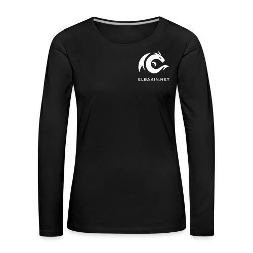 T-shirt femme noir manches longues pour les grandes - T-shirt manches longues Premium Femme