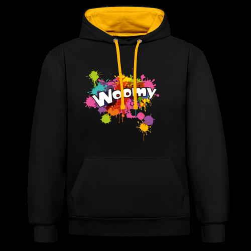 Woomy - Contrast Colour Hoodie