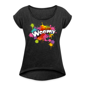 Woomy - Women's T-shirt with rolled up sleeves