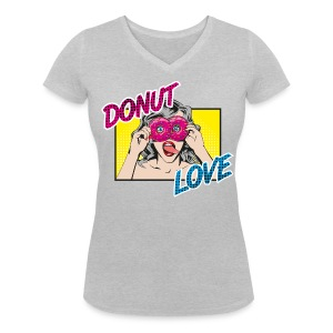 Donut Love - Frauen Bio-T-Shirt mit V-Ausschnitt von Stanley & Stella