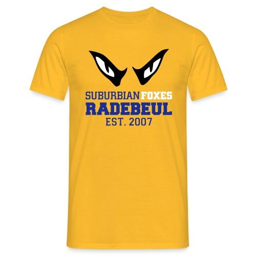 2018 Suburbian Foxes Männer T-Shirt Gelb - Männer T-Shirt