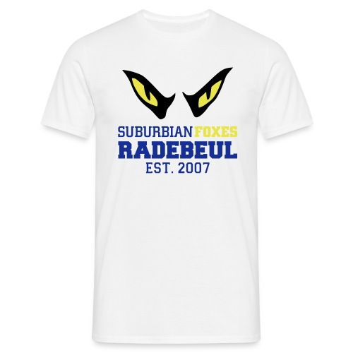 2018 Suburbian Foxes Männer T-Shirt Weiß - Männer T-Shirt