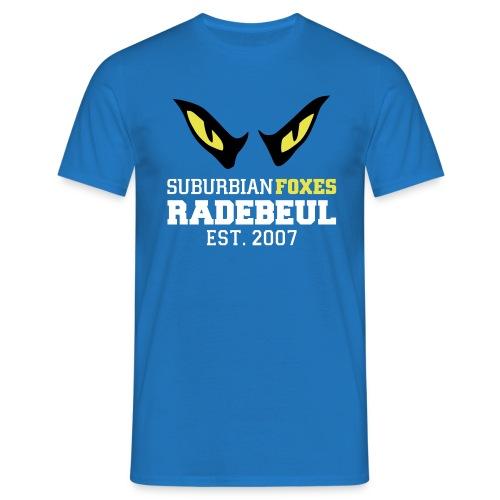 2018 Suburbian Foxes Männer T-Shirt Blau - Männer T-Shirt