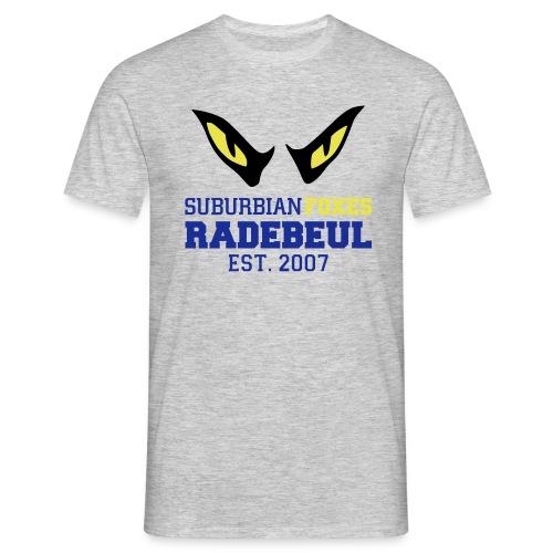 2018 Suburbian Foxes Männer T-Shirt Grau - Männer T-Shirt