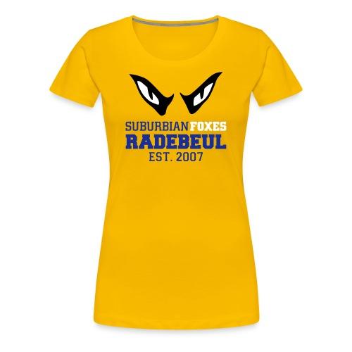 2018 Suburbian Foxes Frauen T-Shirt Gelb - Frauen Premium T-Shirt