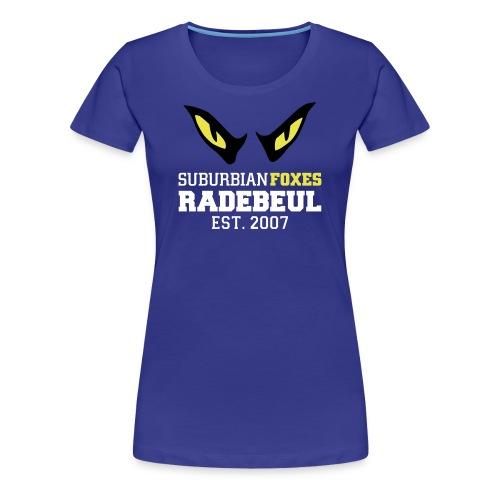 2018 Suburbian Foxes Frauen T-Shirt Blau - Frauen Premium T-Shirt