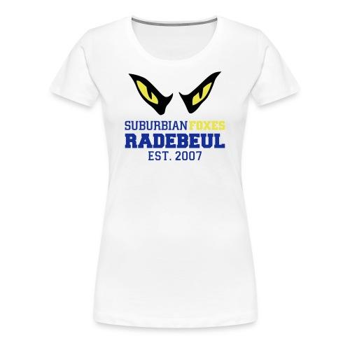 2018 Suburbian Foxes Frauen T-Shirt Weiß - Frauen Premium T-Shirt