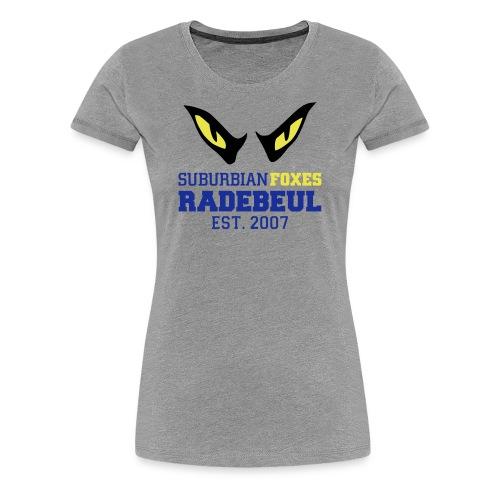 2018 Suburbian Foxes Frauen T-Shirt Grau - Frauen Premium T-Shirt