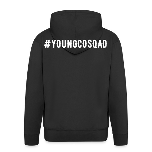 #YoungcoSquad Black Hoodie - Men's Premium Hooded Jacket