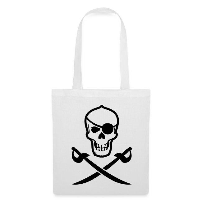 Bio-Stofftasche Totenkopf-Pirat