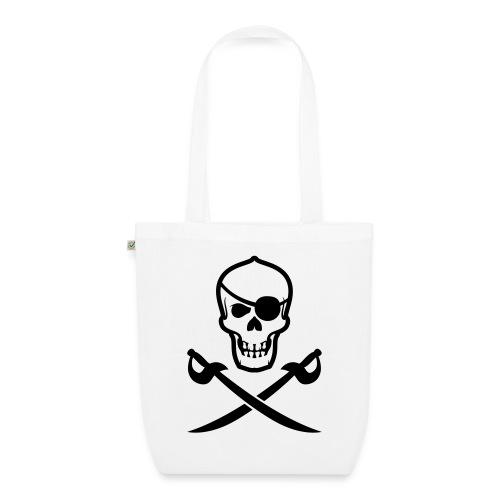 Stofftasche Totenkopf-Pirat - Bio-Stoffbeutel