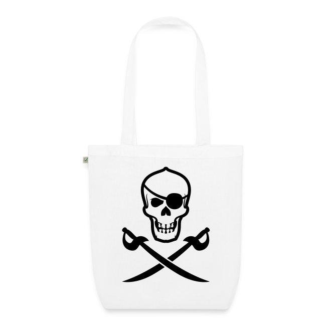 Stofftasche Totenkopf-Pirat