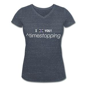 I (photo) you (V-Neck) 002 - Women's Organic V-Neck T-Shirt by Stanley & Stella