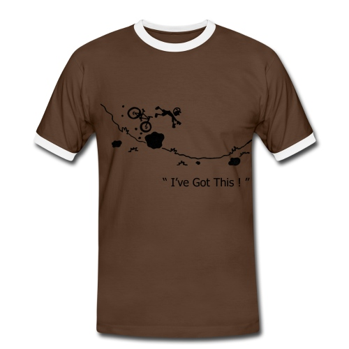I've Got This! MTB Crash T-Shirt for Mountain Biking - Men's Ringer Shirt