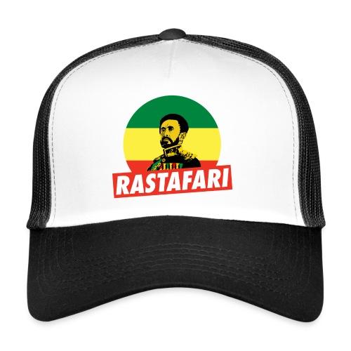 Haile Selassie Jah Rastafari Reggae Roots Trucker Cap - Trucker Cap