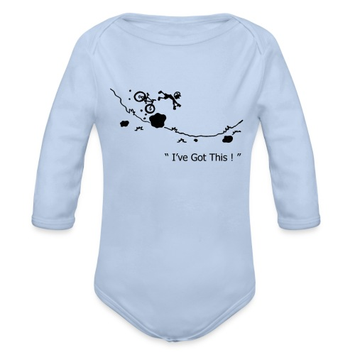 I've Got This! MTB Crash Baby Grow Bodysuit - Organic Longsleeve Baby Bodysuit