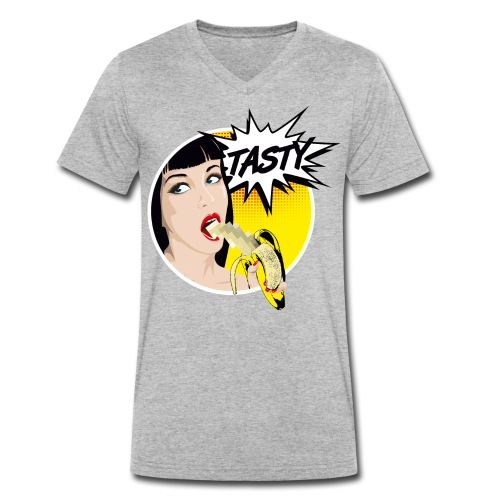 Popart Banane - Männer Bio-T-Shirt mit V-Ausschnitt von Stanley & Stella