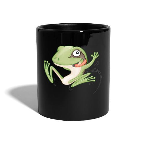 hüpfender Frosch - Tasse farbig - Tasse einfarbig