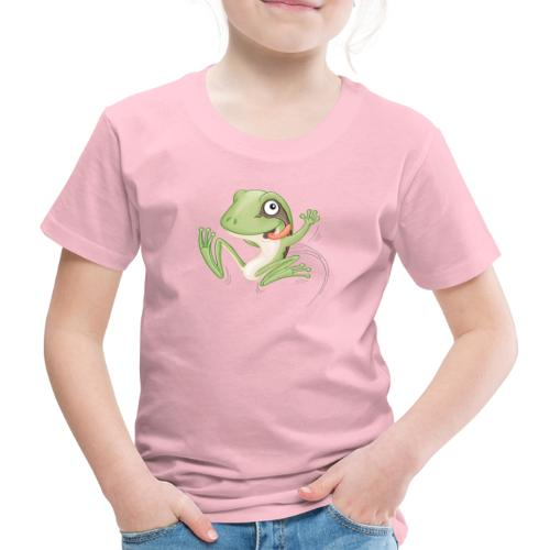 hüpfender Frosch - Kinder Premium T-Shirt - Kinder Premium T-Shirt
