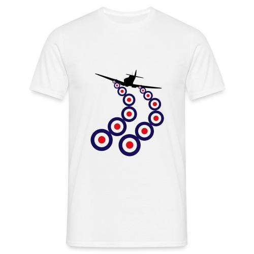 RAF Spitfire Firing - Men's T-Shirt