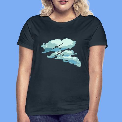 Segelflieger Wolkenstraße cloudstreet - Women's T-Shirt