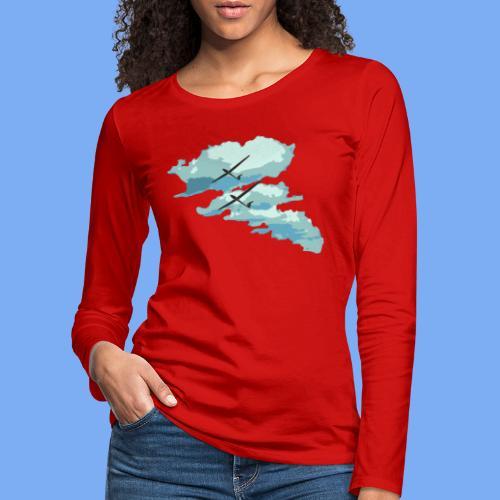 Segelflieger Wolkenstraße cloudstreet - Women's Premium Longsleeve Shirt