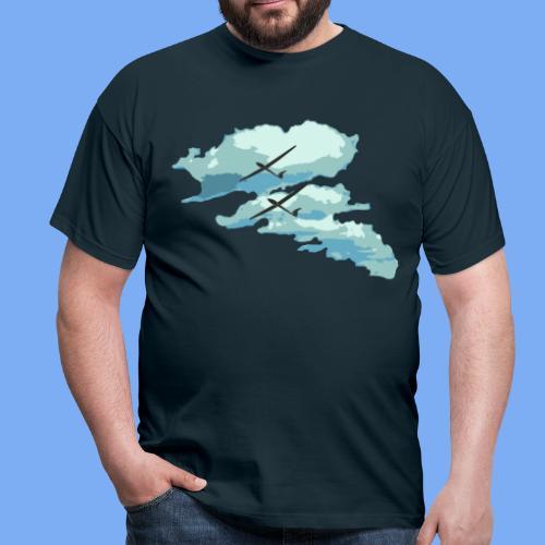 Segelflieger Wolkenstraße cloudstreet - Men's T-Shirt