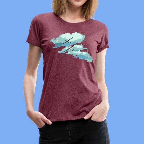 Segelflieger Wolkenstraße cloudstreet - Women's Premium T-Shirt