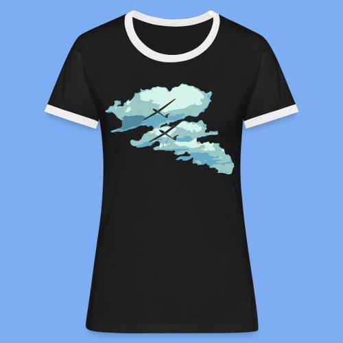 Segelflieger Wolkenstraße cloudstreet - Women's Ringer T-Shirt