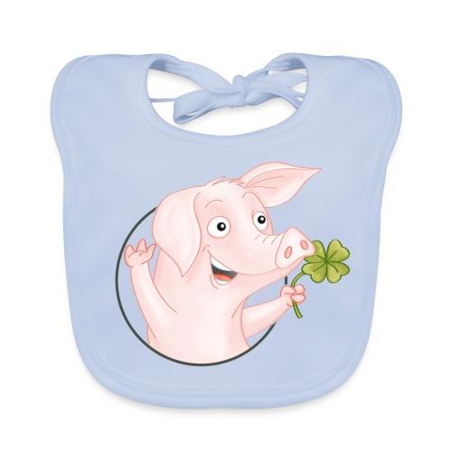 Glücksschwein - Baby Bio-Lätzchen - Baby Bio-Lätzchen