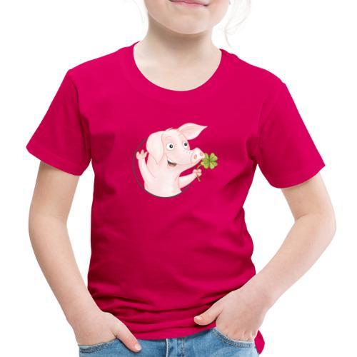 Glücksschwein - Kinder Premium T-Shirt - Kinder Premium T-Shirt