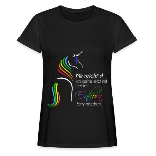 Einhorn-Party dunkel - Frauen Oversize T-Shirt
