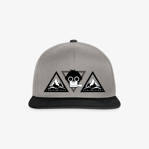 Snapback_Cap mountains (Flockdruck) - Snapback Cap