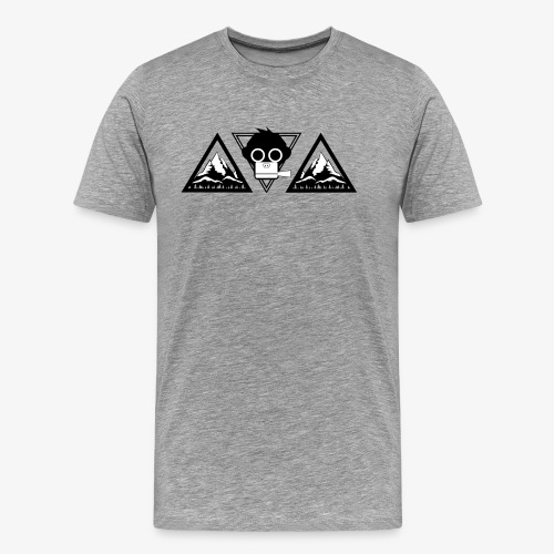 men shirt mountains (flockdruck) - Männer Premium T-Shirt