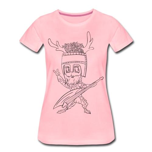 dames print voor en achter - Vrouwen Premium T-shirt