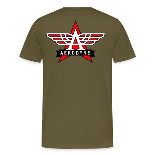 Tee shirt AERODYNE logo etoile vintage poitrine et dos - T-shirt Premium Homme