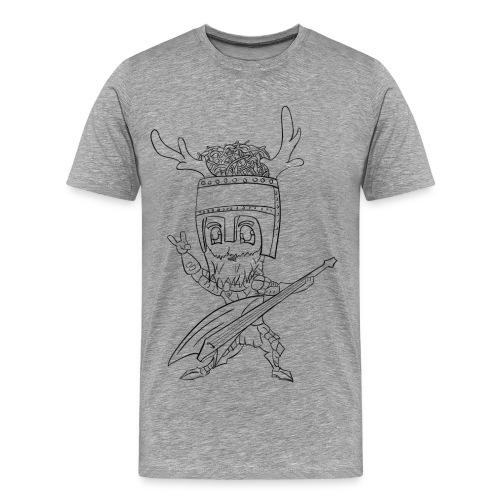 Mannenshirt tkwsm print voor en achter - Mannen Premium T-shirt