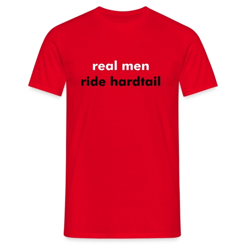 real men ride - Men's T-Shirt