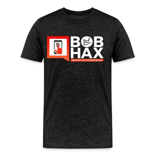 bob Hax logo grigia - Maglietta Premium da uomo