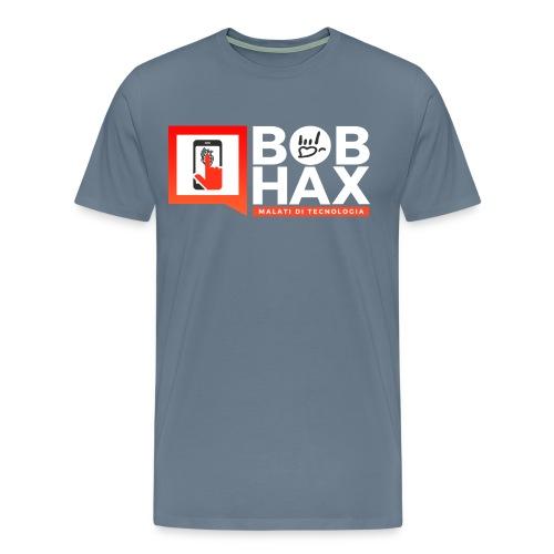 Bob Hax logo grigia chiara - Maglietta Premium da uomo