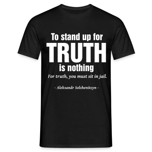 Solzhenitsyn Truth Quote - T-shirt Homme