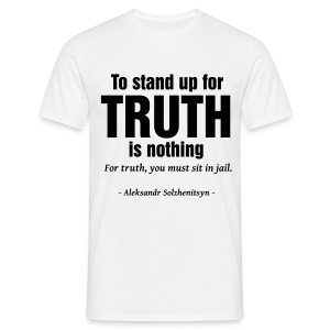 Solzhenitsyn Truth Quote - T-shirt Homme