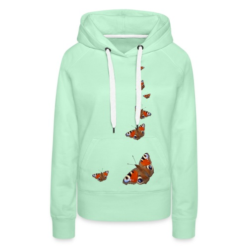 Schmetterling Flügel Tagpfauenauge Insekt Frühling - Frauen Premium Hoodie
