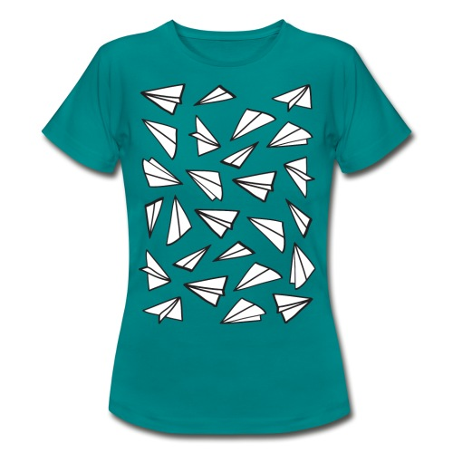 Vliegtuigjes vrouwen t-shirt - Vrouwen T-shirt