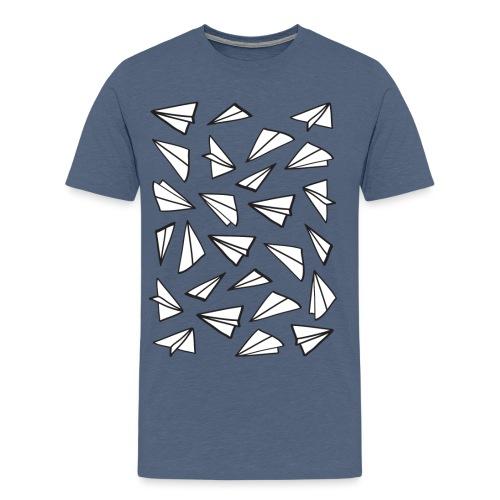 Vliegtuigjes mannen premium - Mannen Premium T-shirt