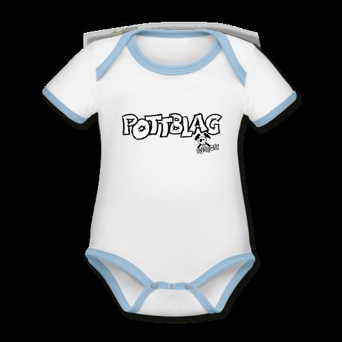 Pottblag - Baby Bio-Kurzarm-Kontrastbody