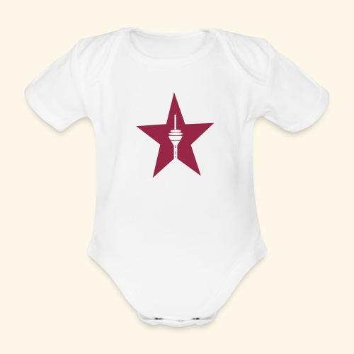 Düsseldorf Rheinturm Baby - Baby Bio-Kurzarm-Body